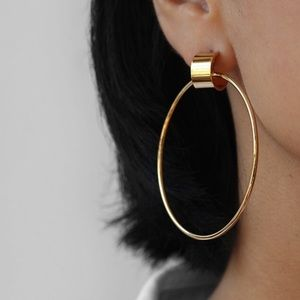 WORN ONCE Jenny Bird Gold Hoops